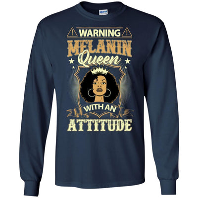 Warning Melanin Queen With An Attitude T-Shirt African American Women BigProStore
