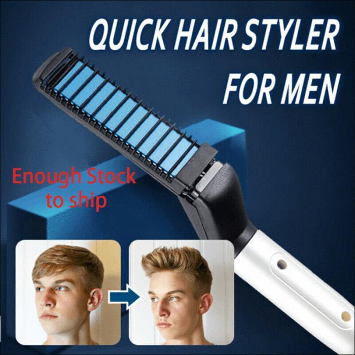 Walastyle Beard Straightening Men's Hair Styling Comb