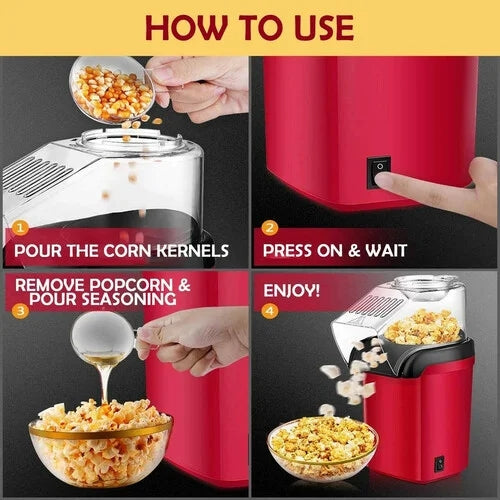 Walastyle Mini Automatic Popcorn Machine