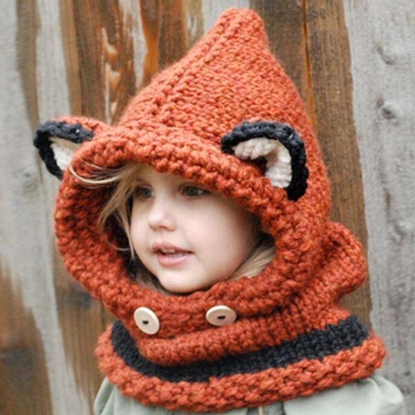 Walastyle Animals Knitted Beanie & Scarf