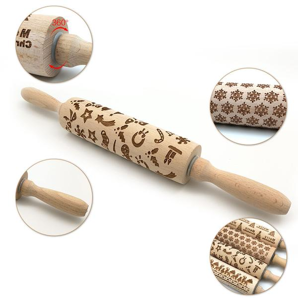 Walastyle Christmas 3D Rolling Pin