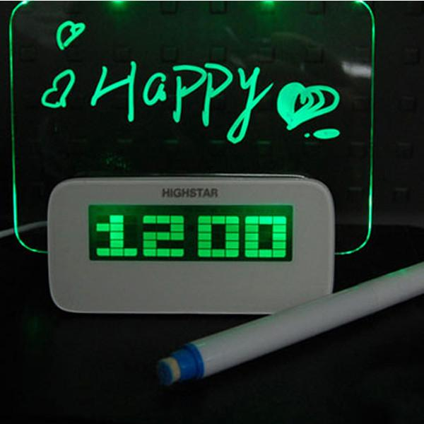 walastyle digital alarm clock with message board