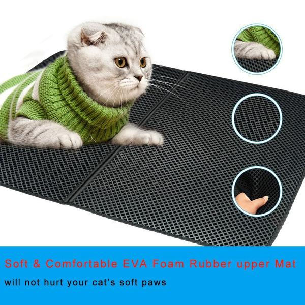 walastyle foldable waterproof cat litter mat