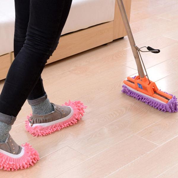 walastyle lazy detachable floor wipe slippers