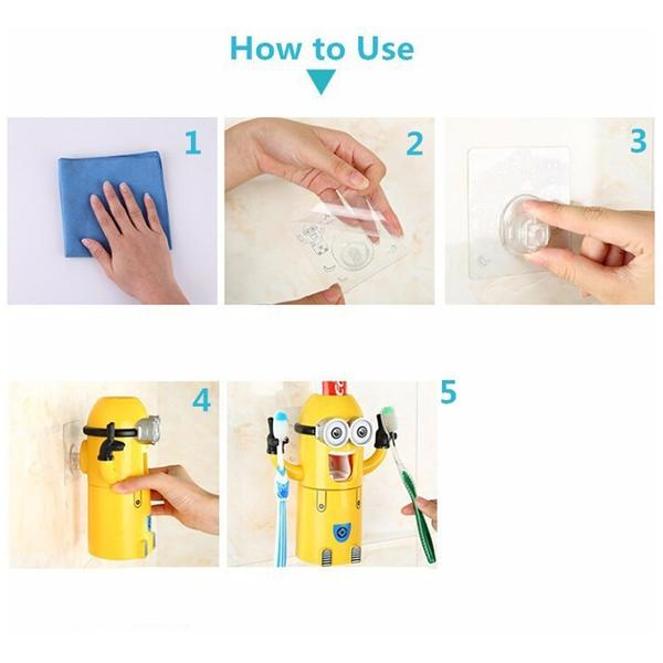walastyle little banana toothpaste dispenser