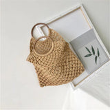 walastyle Mini Mesh Woven Travel Totes