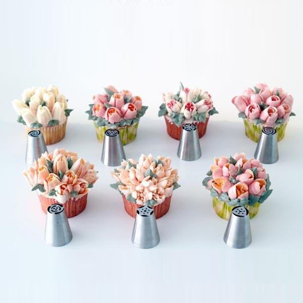 Walastyle Russian Tulip Icing Nozzle Set