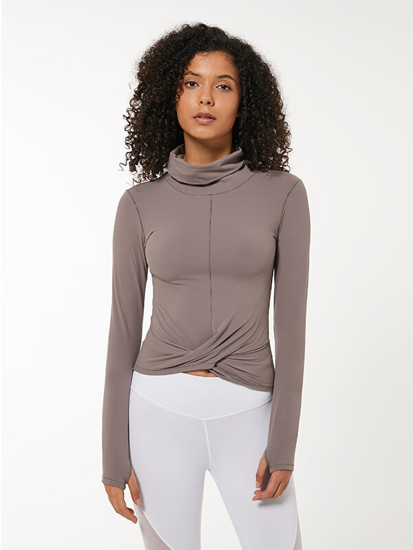 LikeBunny Dynamic Turtleneck Top