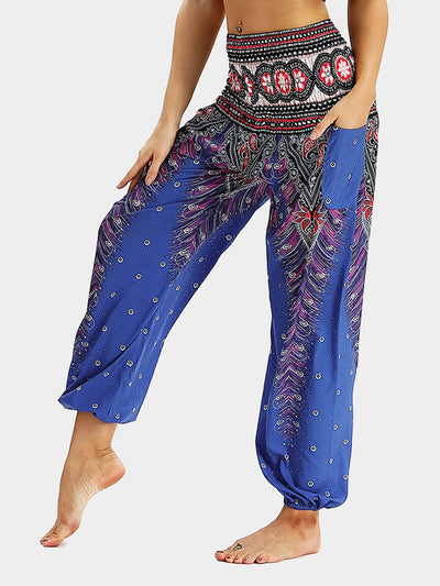 Women's Street Ethnic Style Loose Yoga Pants