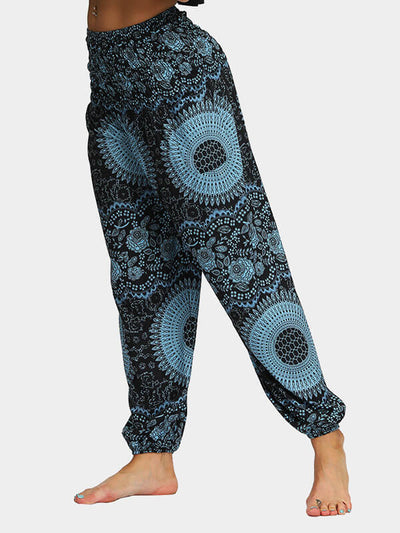 Printed Loose Yoga Pants