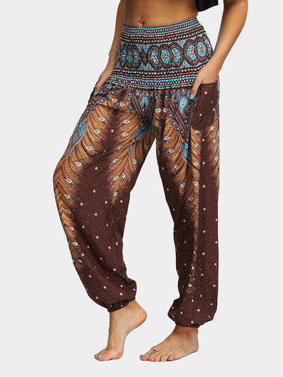 Women's Printed Plus Size Loose Yoga Pants