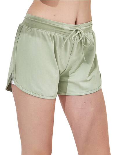 LikeBunny Middle Waist Sports Shorts