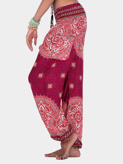 Women's Ethnic Style Printed Loose Yoga Pants