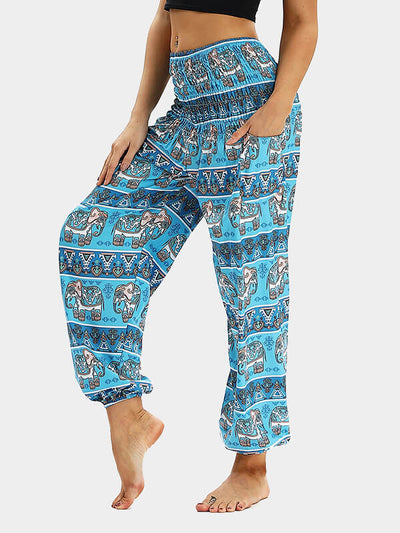 Boho Sea Loose Yoga Pants