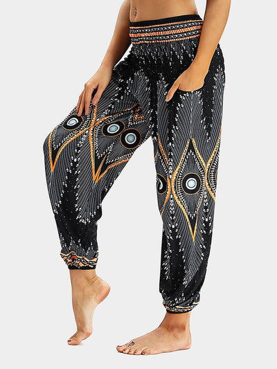 Women's Printed Loose Yoga Pants
