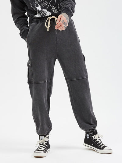 Men's Vintage Large Pocket Casual Trousers