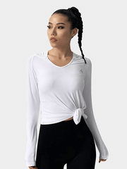 LikeBunny Flurry To Today Long Sleeve Crop Top