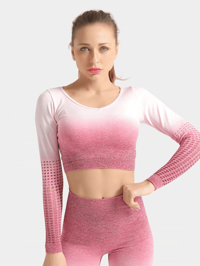 LikeBunny What's New Long-sleeve Crop Top