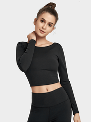 LikeBunny Dreaming With You Long-sleeve Crop Top