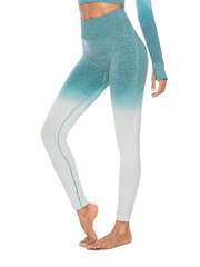 "LikeBunny Ombre High-Rise Yoga Leggings 28"" Mint Green"