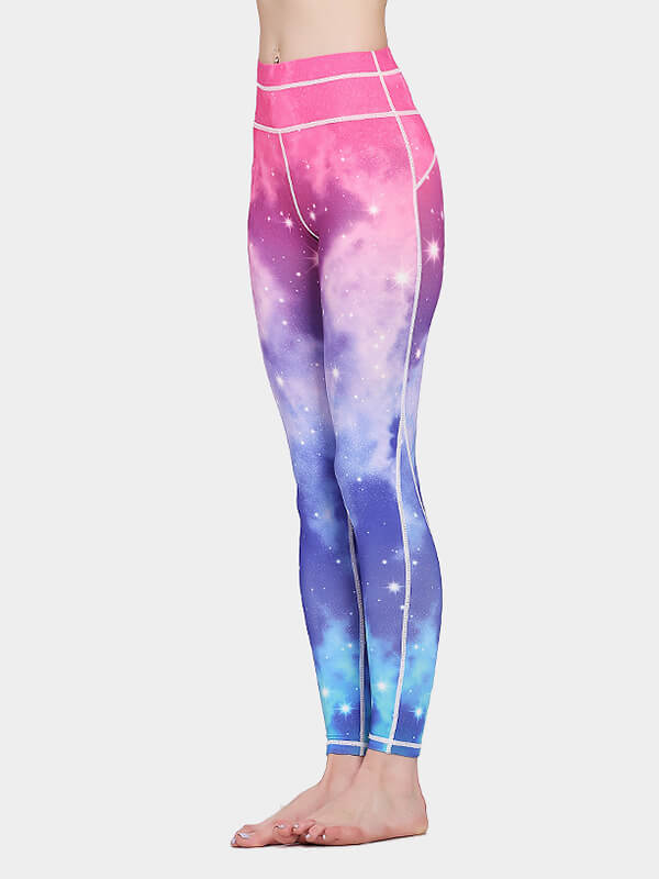 Women's Galaxy Printed Tight Yoga Pants