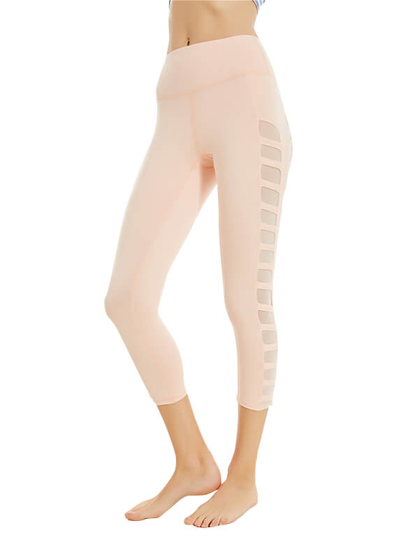 LikeBunny Hollow-Out Tight Sports Leggings 25''