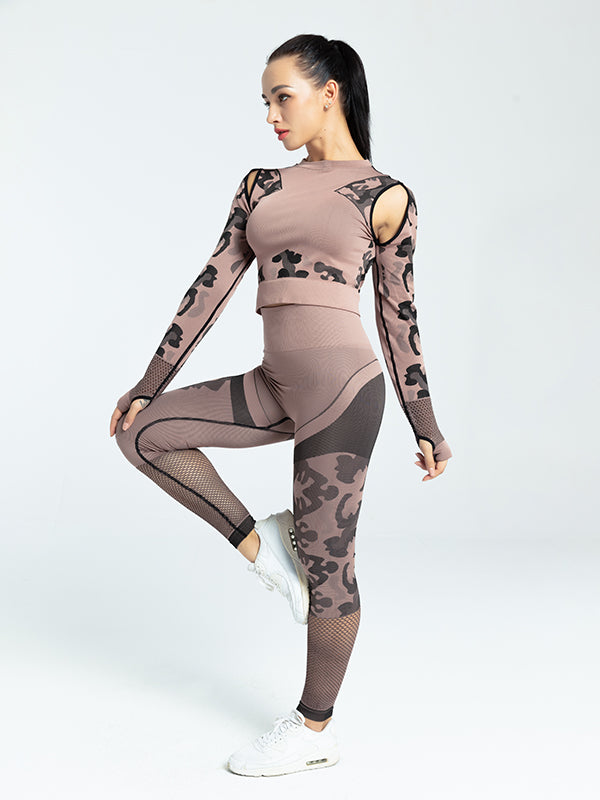 Women's Tight Camouflage Yoga Tops