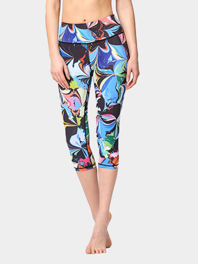 Women's Color Printed Tight Yoga Pants