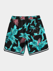 Men's Black Painted Beach Shorts