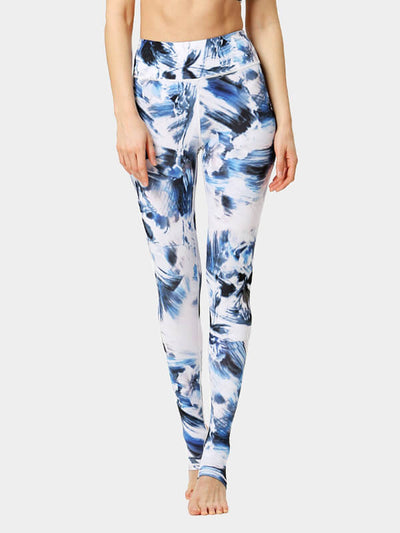 Women's Floral Print Tight-Fitting Yoga Pants