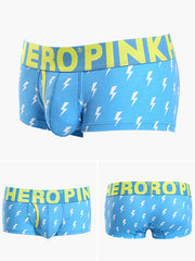LikeBunny Lightning Printed Boxer Brief w/Fly 809 lightning
