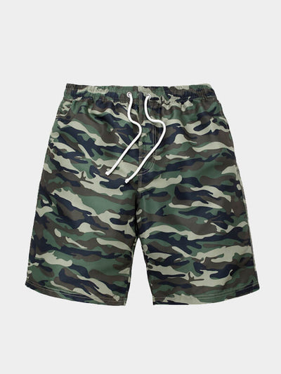 Mens's Camouflage Beach Shorts