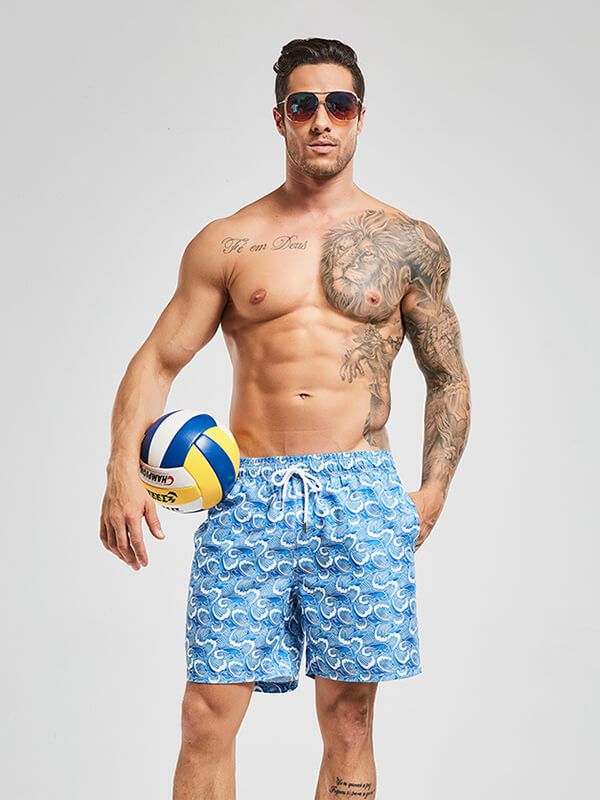 Men's Blue Spindrift Beach Shorts