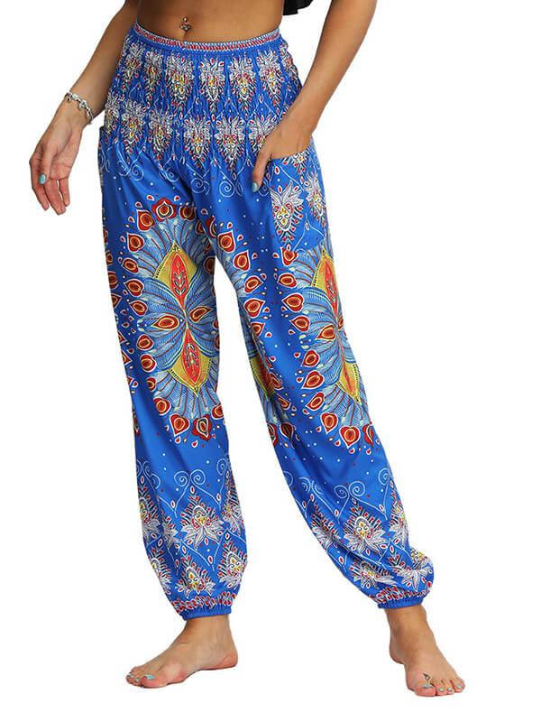 Women's Flower Printed Loose Yoga Pants