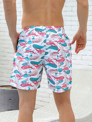 Men's Animal Print Beach Shorts