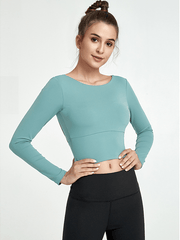 LikeBunny In Liquor Long-sleeve Crop Top