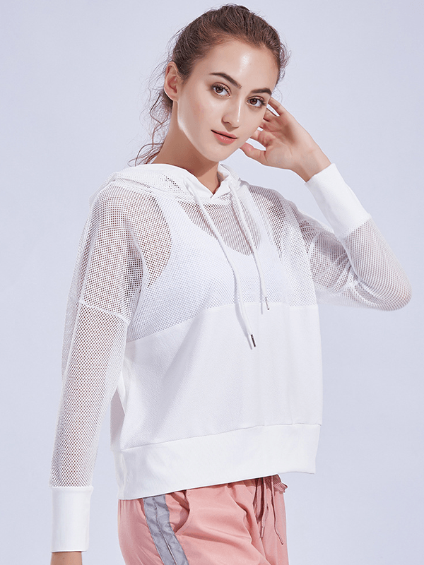 Likebunny Go Crew Long Sleeve Crop Top