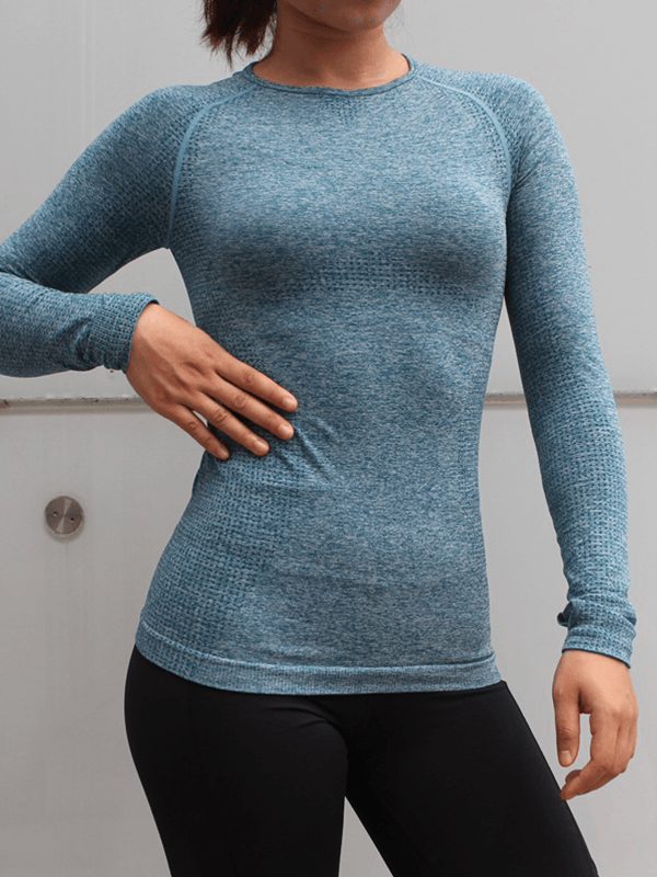 LikeBunny Transfer Energy Long Sleeve Crop Top