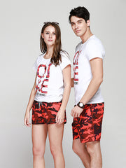 Couple's Light Dawn Day Beach Shorts