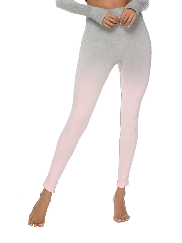 "LikeBunny Ombre High-Rise Yoga Leggings 28"" Misty Lilac"