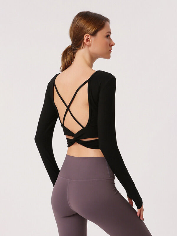Likebunny Inner Expanse Long Sleeve Crop Top