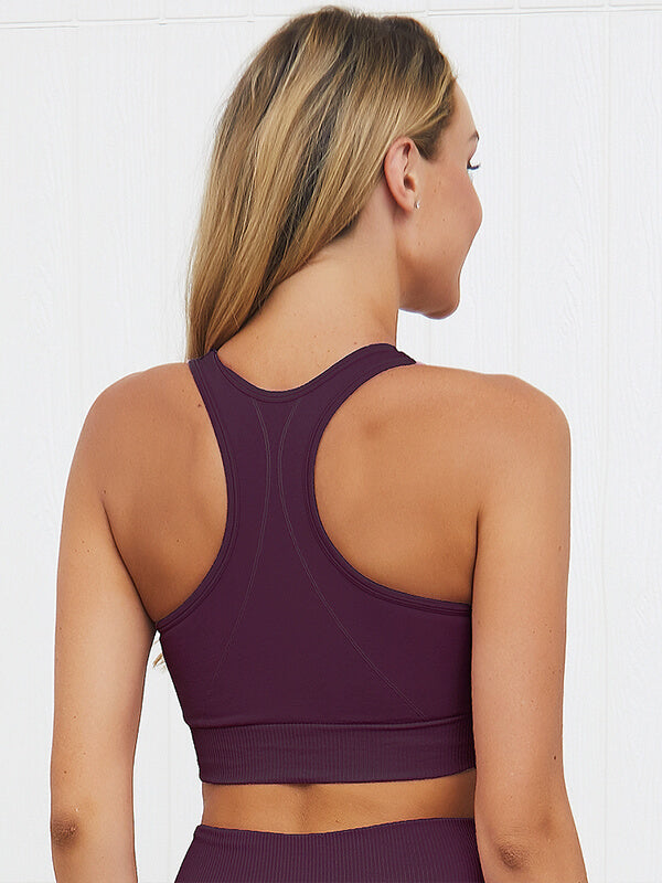 Women's Seamless Knit Sports Bra