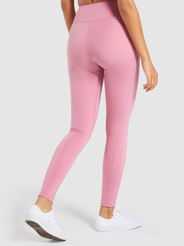 "LikeBunny Colorlove Tight Sports Leggings with Pocket 28"" Pink"