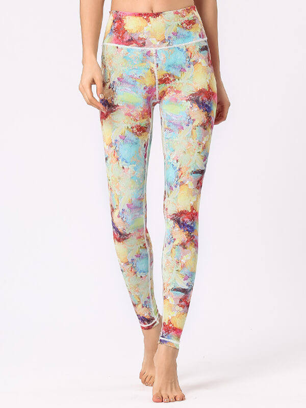 LikeBunny Starry Printed High-Rise Yoga Leggings 28""