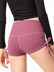 "LikeBunny Ruched Sides Tight Sports Shorts 2"" Pink"