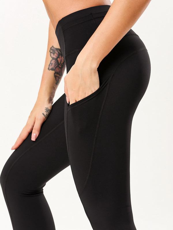 "LikeBunny Tight Sports Leggings with Pocket 28"" Black"