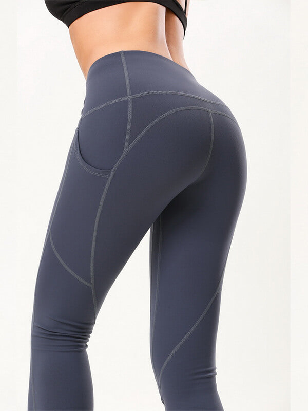 "LikeBunny Tight Sports Leggings with Pocket 28"" Deep Grey"