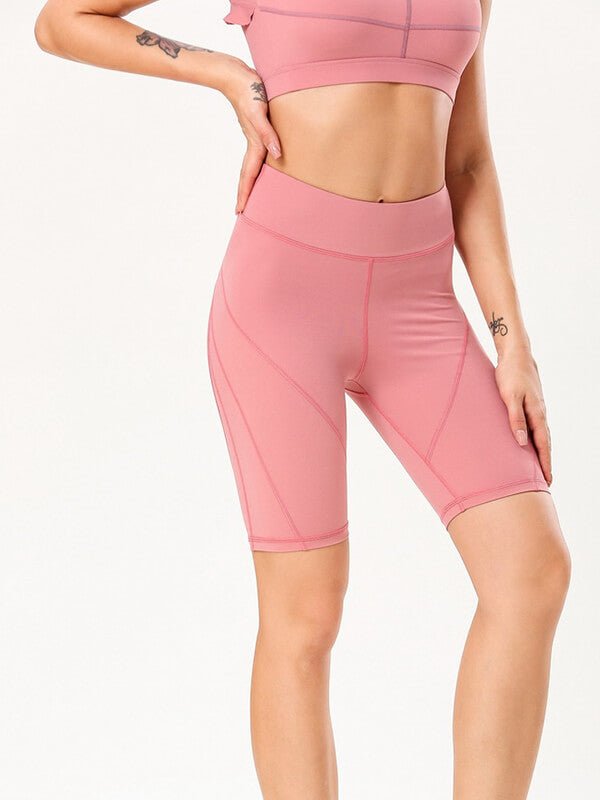 "LikeBunny High-Rise Tight Sports Shorts 10"" Pink"