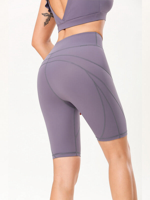 "LikeBunny High-Rise Tight Sports Shorts 10"" Purple"