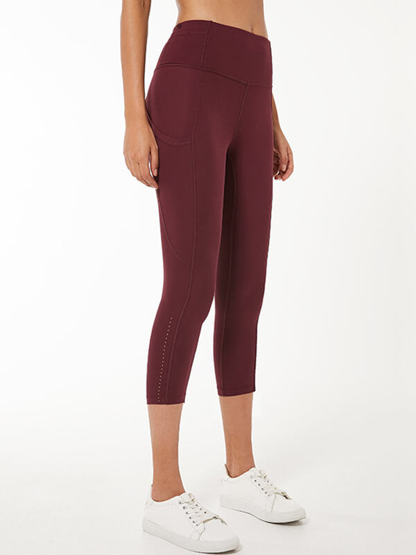 LikeBunny Relaxed High-Rise Sports Leggings with Pocket 25""